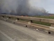 Marsh Fire New Orleans