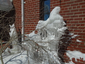 Natural Ice scupture at eastminster Church