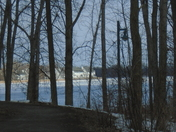 The bayshore Trail on a Cold Spring day belleville Ontario