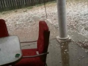Heavy Hail as it'sit's falling