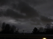 Clouds of storm rolling into Fayetteville tonight