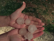 Quarter to golfball size hail
