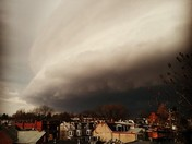 Shelf Cloud Over the West End of Lancaster City