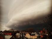 Shelf Cloud Over the West End of Lancaster City