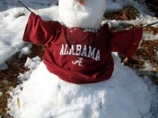 University of Alabama snowman fan