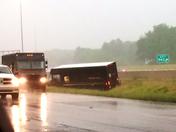 UPS truck flips