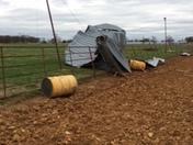 barn damage last night around 10:00 pm