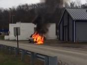 Car fire Bethel Park