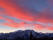 A mountain sunset in Banff National Park