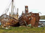 Rusty whaling ships