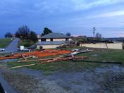 damage to chiarelli's pizza shop