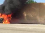 Car in flames/EXPLOSION on FL turnpike