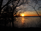 Sunset over Saylorville Lake