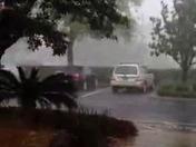Yesterday rain storm in Orange city