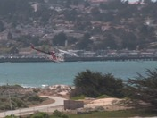 Choppers Get Water @ Del Monte Beach for Vegetation fire in Del Monte Forest are