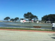 Cal fire helicopter at lake