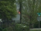 house fire at 11:30 AM Monday Morning