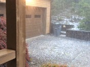 Hailstorm on west side of Paris Mountain