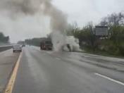 Car fire on I-35 south 4/25/15