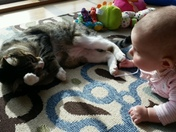 Nora with her cute kittie