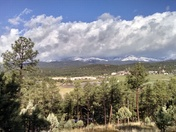 spring snow near Ruidoso