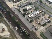Video of fallen train