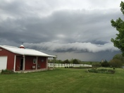 Pic of storm moving into Louisburg, KS