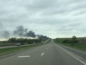 Fire i80 80 miles east of Des Moines