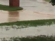Flooded streets in Yukon