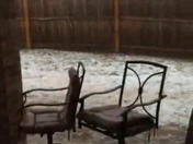 Rain and hail near Indian Hills in Moore
