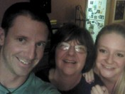 With mom, a 35 year breast cancer survivor, and my sis/ with my kids