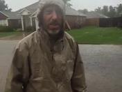 crazy man in the rain