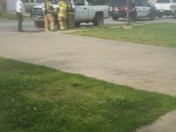 Vehicle caught on fire