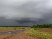 Storms moving over Big Mound Rd