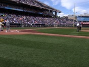 KC Royals Ceremonial First Pitch - Carter Broadcast Group 65th and NLBM