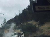 hwy 1 car fire