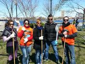 The Kensington Team at 2015 Charles River Cleanup