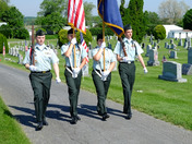 Monroe Township, Memorial Day 2015 Ceremony for veterans. Mount Zion Cemetery