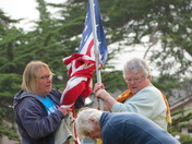 Raising the Flag at El Carmelo Cemetery, Memorial Day 2015
