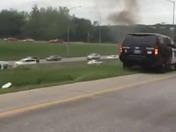 Car fire on I-235
