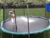 Hail on a trampoline in Murrysville PA