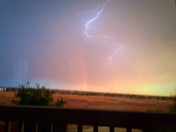 Rainbow lightening (By: Diane Harris)