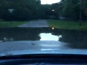 Flash flooding at the intersection of Lynd and Webster streets in Gowrie