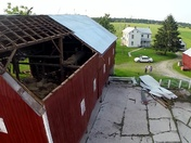 Aerial Video Footage of Fissle Farm Storm Damage - Photos too.