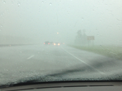 I 95 south just before jupiter complete white out