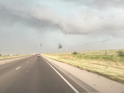 Lovington just before the storm hit
