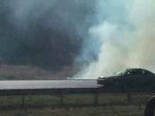 fire on I 77