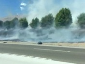 Fire on the highway