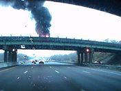 Van Fire RT95 Overpass RT128 Dedham