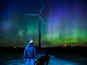 Northern Lights on the Wind Farm